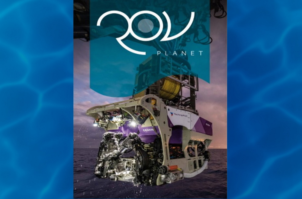 The ROV Planet issue featuring a NOAA Navy USV using SeaView Systems SVS-603 wave sensor is shown.
